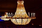 Vintage Ballroom Chandalier Fractal Print by Darleen Stry