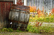 Barkerville Photos - Vintage Barrel by Wayne Stadler