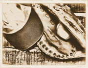 Glove Prints - Vintage Baseball Print by Jimmy Ostgard