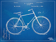 Us Open Digital Art Posters - Vintage Bicycle Patent Artwork 1894 Poster by Nikki Marie Smith