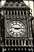 Great Britain Art - Vintage Big Ben I by John Rizzuto