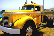 Old Trucks Framed Prints - Vintage Big Rig . 7D15483 Framed Print by Wingsdomain Art and Photography