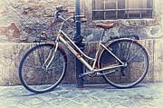Vintage Bike Print by Nancy Morgantini