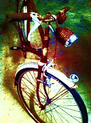 Biking Mixed Media - Vintage Bike by The Creation Fine Art Studio