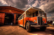 Leyland Framed Prints - Vintage Bus  Framed Print by Rob Hawkins