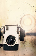 Straps Prints - Vintage Camera Print by Stephanie Frey