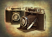Mechanical Photo Metal Prints - Vintage Cameras Metal Print by Meirion Matthias