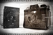 Stephen Clarridge Metal Prints - Vintage Cameras Metal Print by Stephen Clarridge