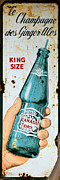 Coca-cola Signs Metal Prints - Vintage Canada Dry Sign Metal Print by Andrew Fare