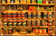Buy Goods Photo Prints - Vintage Canned Goods - General Store Vintage Supplies - nostalgia Print by Lee Dos Santos