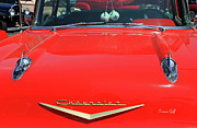 Red Chevrolet Photos - Vintage Car Show by Suzanne Gaff