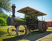 Horse And Buggy Prints - Vintage Case Steam Engine Print by Steve McKinzie