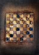 Lose Metal Prints - Vintage Checkers Game Metal Print by Jill Battaglia