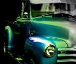 Antique Automobiles Digital Art - Vintage Chevy 3100 Pickup Truck SIde View by Steven  Digman