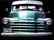 Antique Automobiles Digital Art Framed Prints - Vintage Chevy 3100 Pickup Truck Framed Print by Steven  Digman