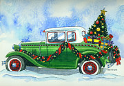 Model A Posters - Vintage Christmas Poster by Mark Jennings