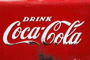Licensing Pyrography Prints - Vintage Coca Cola Sign 2 Print by Anahi DeCanio