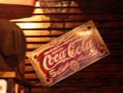 Wooden Paneling Prints - Vintage Coca Cola Sign Print by Linda Phelps