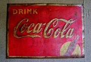Antiquated Prints - Vintage Coca-Cola Sign Print by Mary Deal