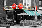 Fruit Store Framed Prints - Vintage Coca Cola Signs Framed Print by Andrew Fare