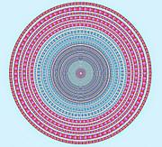 Vintage Color Circle Print by Atiketta Sangasaeng