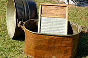 Old Mill Scenes Photos - Vintage Copper Wash Tub by LeeAnn McLaneGoetz McLaneGoetzStudioLLCcom