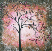 Tree Art Paintings - Vintage Couture by MADART by Megan Duncanson