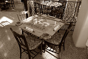 Dominoes Photos - Vintage Domino Table by David Lee Thompson