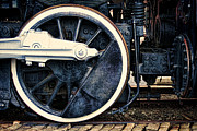 Assembly Framed Prints - Vintage Drive Wheel Framed Print by Olivier Le Queinec
