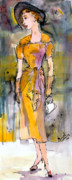 Vintage Clothing Prints - Vintage Fashion Chic Print by Ginette Fine Art LLC Ginette Callaway