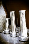 Vintage Fire Hose Nozzles Print by Diane Payne