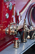Fire Trucks Prints - Vintage Fire Truck 1 Print by Jill Reger