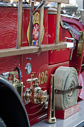 Fire Trucks Prints - Vintage Fire Truck 2 Print by Jill Reger