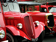 French Cars Prints - Vintage Fire Trucks Print by Tony Grider