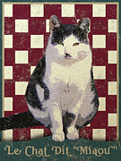 Chat Metal Prints - Vintage French Bistro Cat Metal Print by Vintage Poster Designs