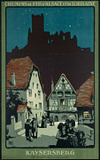 Kaysersberg Posters - Vintage French Travel Poster 2 Poster by George Pedro