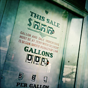 Gallons Prints - Vintage Gas Pump Print by Lori Knisely