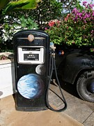 Antiquated Prints - Vintage Gas Pump Print by Mary Deal