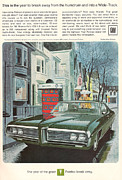 Sixties Posters - Vintage GM Pontiac Poster by Nomad Art And  Design