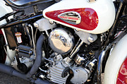 Antique Harley Davidson Photos - Vintage Harley V Twin by David Lee Thompson