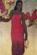 Archival Art Paintings - Vintage Hawaiian Woman by Hawaiiam Legacy Archives - Printscapes