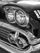 Transportation Framed Prints Prints - Vintage Headlights 2 Print by Brian Mollenkopf