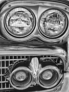 Transportation Framed Prints Prints - Vintage Headlights Print by Brian Mollenkopf