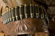 Old Objects Prints - Vintage Holster And Bullets Print by Joel Sartore