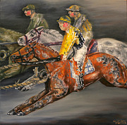 Jockey Paintings - Vintage Horse Racing Toys by Thomas Allen Pauly