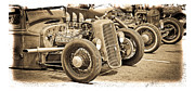 1932-1937 Framed Prints - Vintage Hot Rods Framed Print by Steve McKinzie