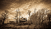 Horse And Buggy Prints - Vintage House on the Hill Print by Steve McKinzie
