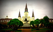 Jackson Prints - Vintage Jackson Square Print by Perry Webster