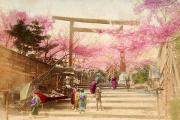 Location Art Metal Prints - Vintage Japanese Art 25 Metal Print by Hawaiian Legacy Archive - Printscapes
