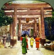 Culture Influenced Art Paintings - Vintage Japanese Art by Hawaiian Legacy Archive - Printscapes